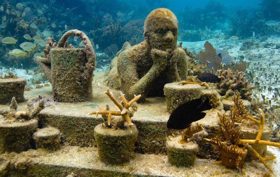 """""""Museo bajo el agua en Cancún"""" Snorkel in MUSA Underwater Museum cancun"""